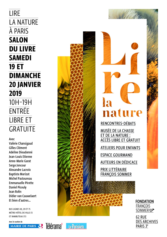 Salon Du Livre Lire La Nature 19 Et 20 Janvier 2019